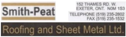 SMITH PEAT ROOFING AND SHEET METAL